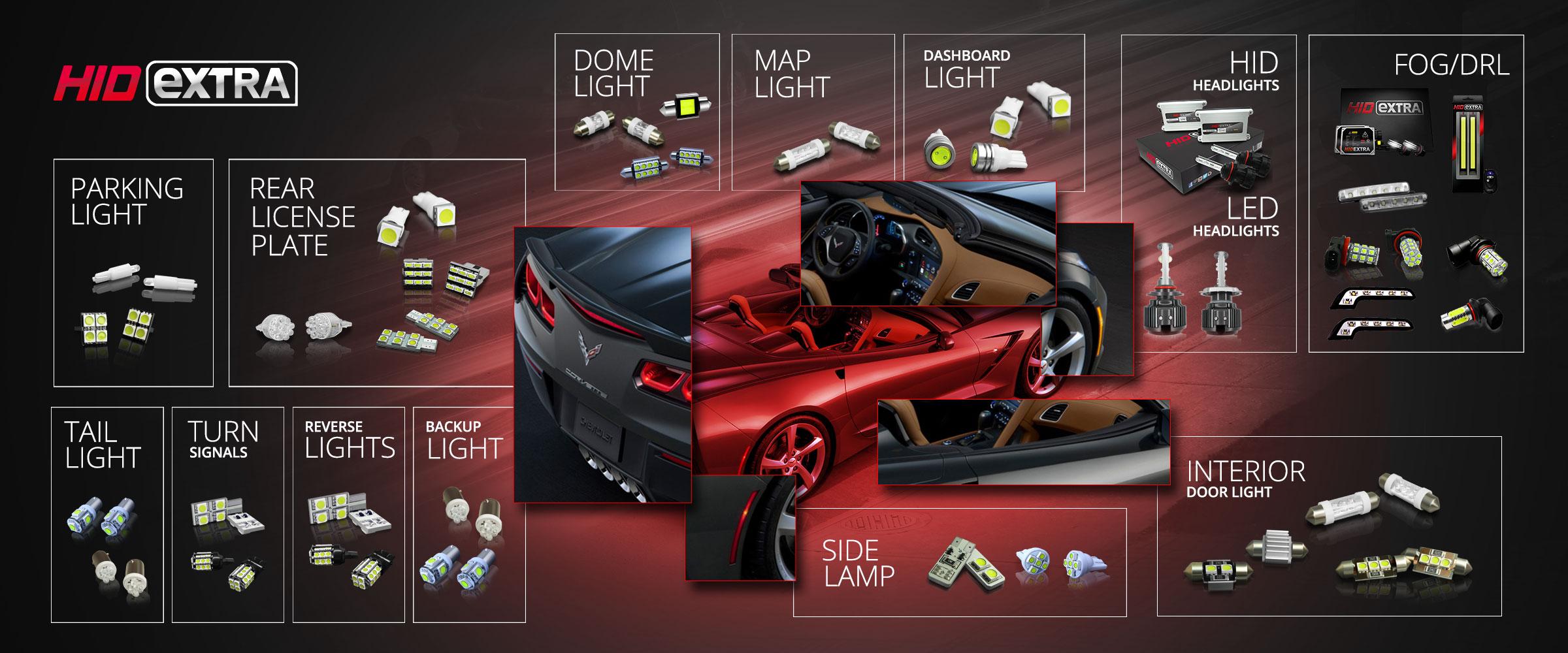 Automotive Bulb Guide For Cars Hidextra Com